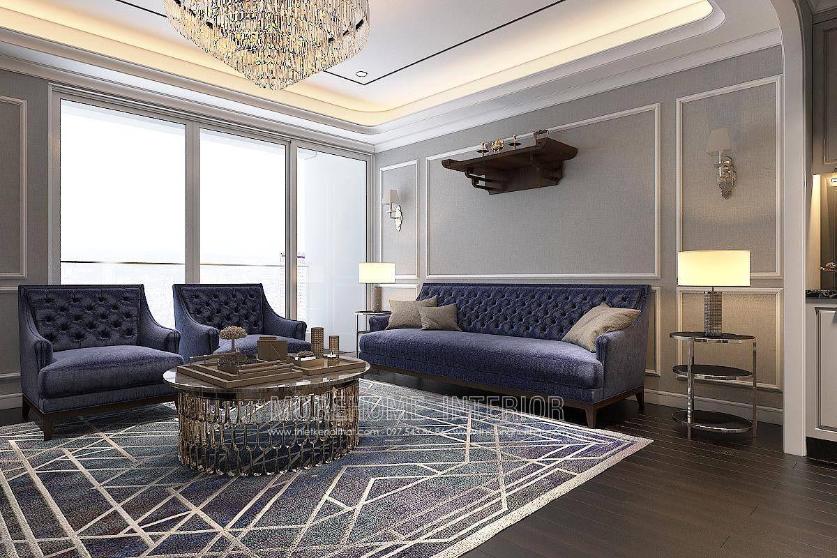 Thiết kế nội thất phòng khách chung cư hongkong tower 243a đê la thành