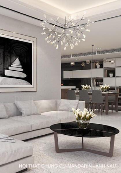 Thiết kế nội thất căn hộ chung cư Mandarin cao cấp - Anh Nam