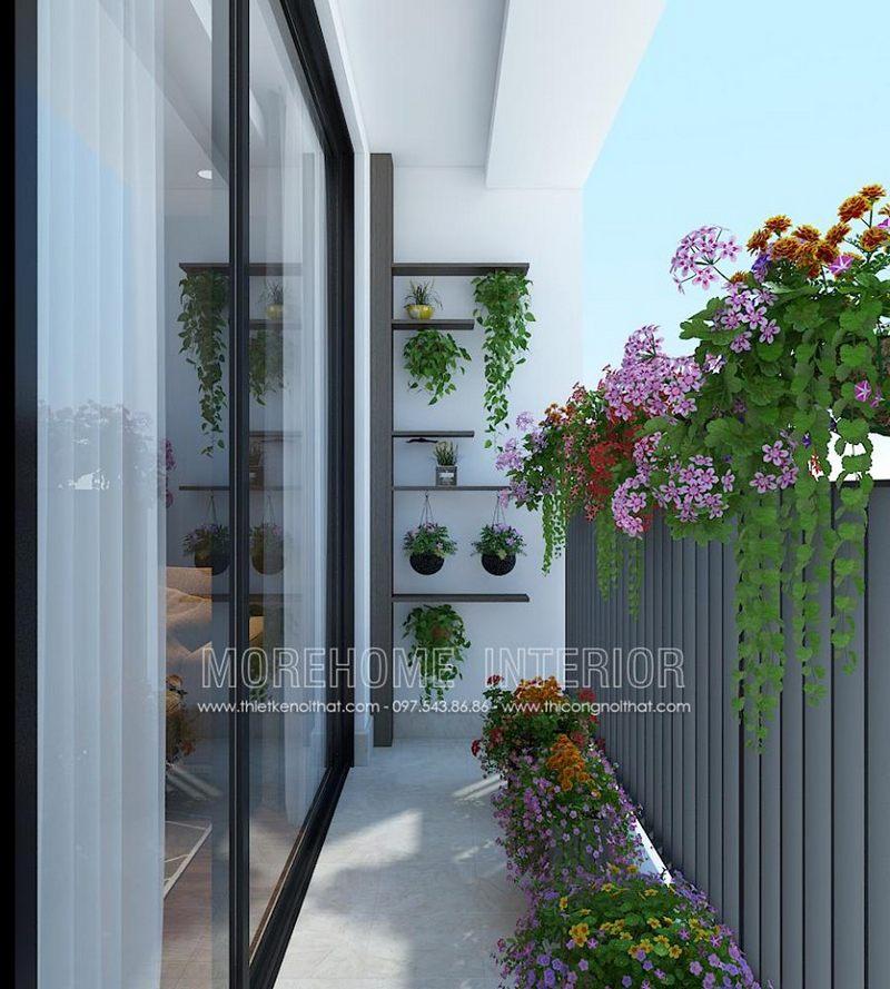 Thiết kế ban công chung cư ngoại giao đoàn bắc từ liêm hà nội