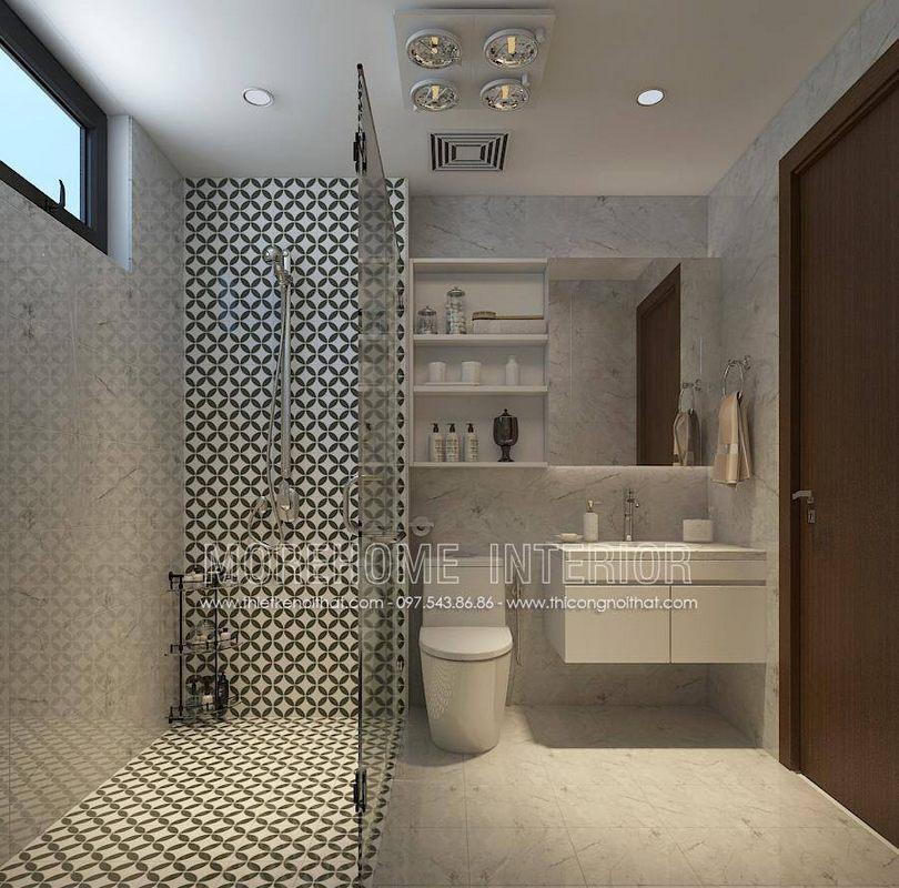 Thiết kế phòng tắm nhà vệ sinh chung cư ngoại giao đoàn bắc từ liêm hà nội