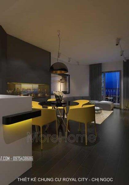 Thiết kế nội thất chung cư Royal City - Chị Ngọc