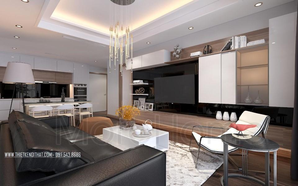 Thiết kế nội thất căn hộ chung cư SunSquare hiện đại