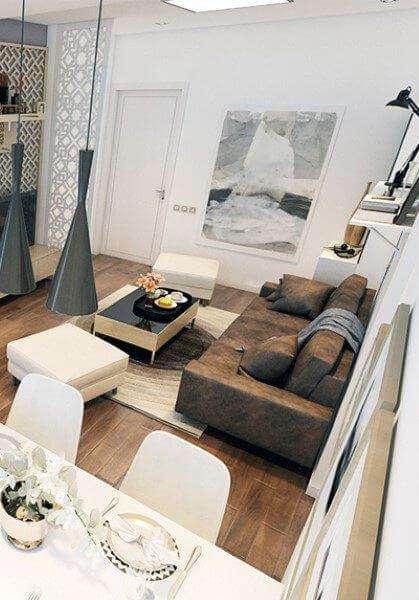 Thiết kế nội thất chung cư tại TP Vinh Nghệ An - Chị Hà hiện đại, tinh tế
