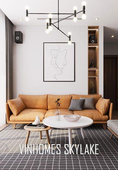 Thiết kế nội thất chung cư Vinhomes Skylake hiện đại, trẻ trung
