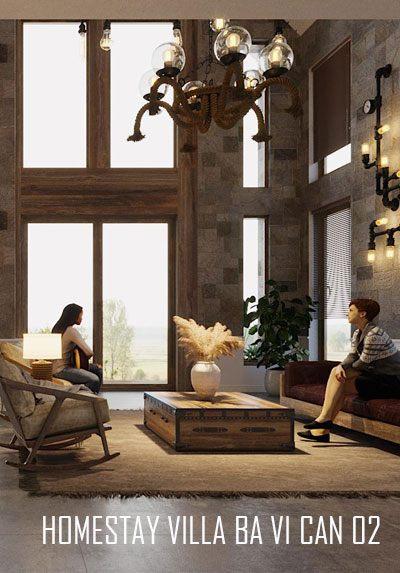 Thiết kế nội thất villa Homestay Căn 02 Ba Vì Hà Nội - Vẻ đẹp đẳng cấp