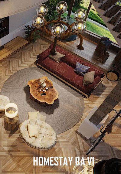 Thiết kế nội thất homestay phong cách địa trung hải tại Ba Vì Hà Nội