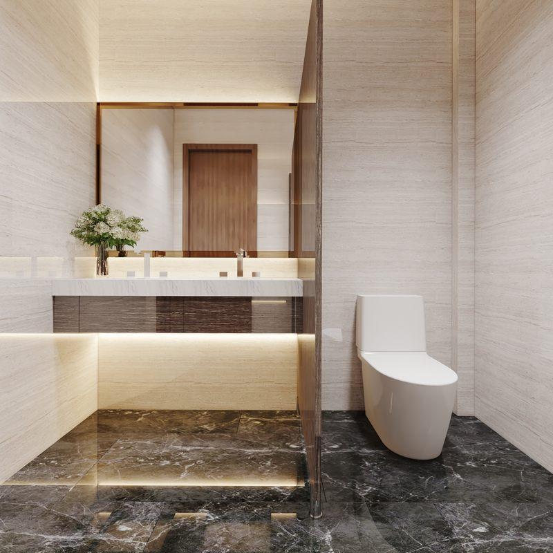 Thiết kế phòng vệ sinh khách sạn hiện đại đẳng cấp