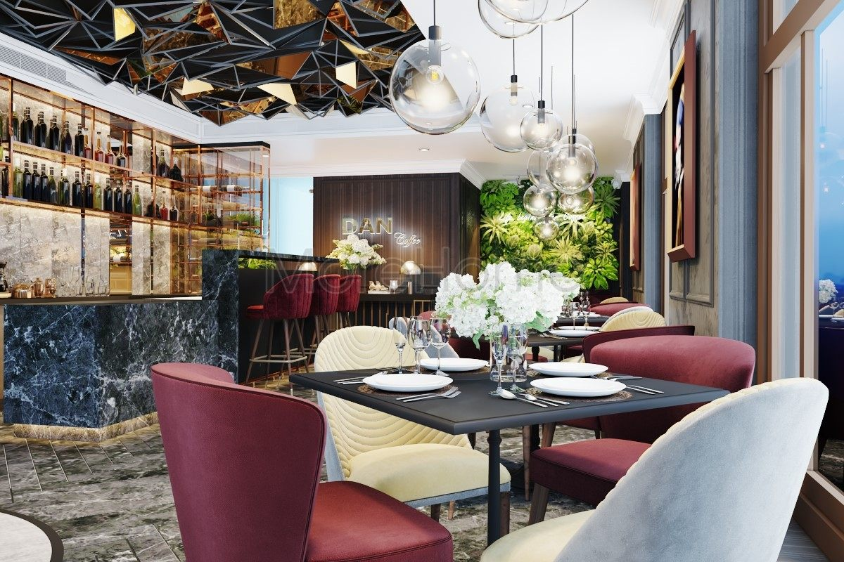 Thiết kế nội thất sảnh khách sạn hiện đại đẳng cấp