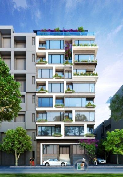 Thiết kế kiến trúc nhà phố Trấn Vũ hiện đại tại quận Ba Đình Hà Nội