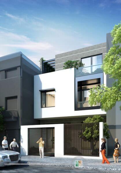 Thiết kế kiến trúc nhà phố phong cách hiện đại, sáng tạo - Anh Tuấn Hải Phòng