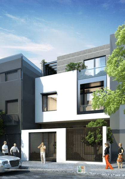 Thiết kế kiến trúc nhà phố hiện đại, sáng tạo - Anh Tuấn Hải Phòng