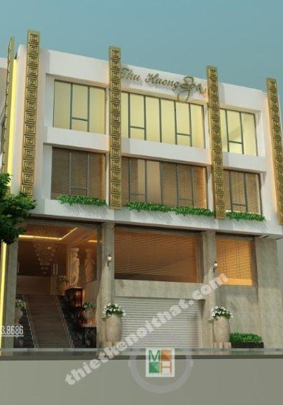 Thiết kế kiến trúc và nội thất SPA Thu Hương - đẹp, xa hoa, quý phái