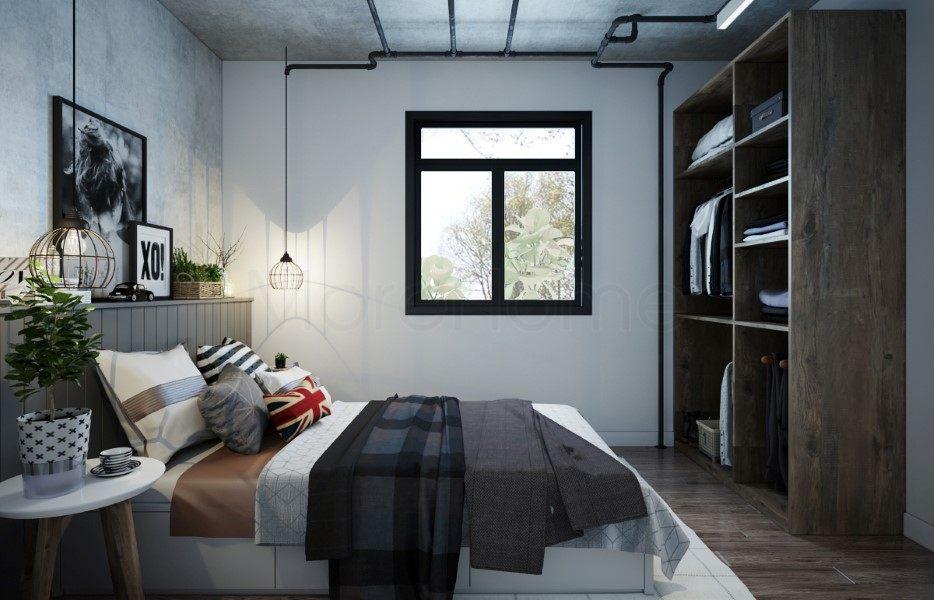 Thiết kế nội thất phòng ngủ nhà container