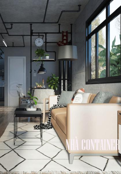 Thiết kế nội thất nhà Container