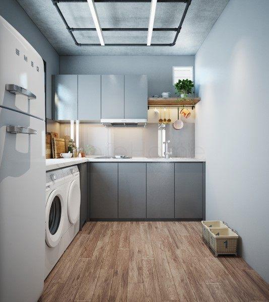 Thiết kế nội thất phòng bếp nhà container