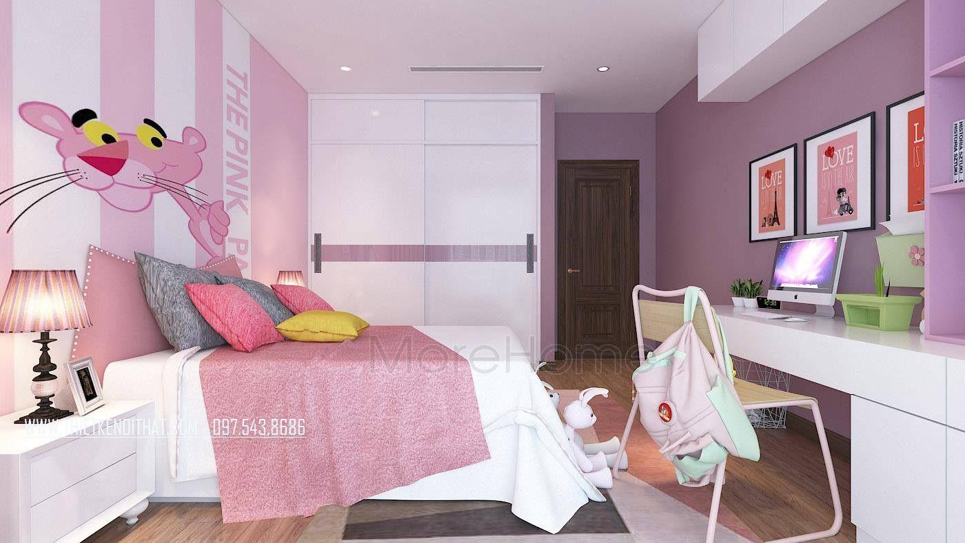 Thiết kế phòng ngủ trẻ em nhà lô phố maison du park phạm văn đồng