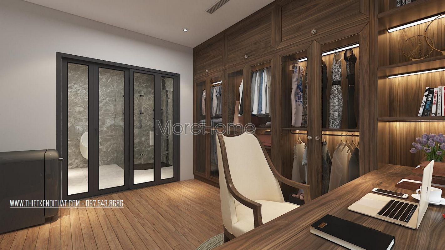 Tủ quần áo đẹp cho nhà lô phố maison du park phạm văn đồng