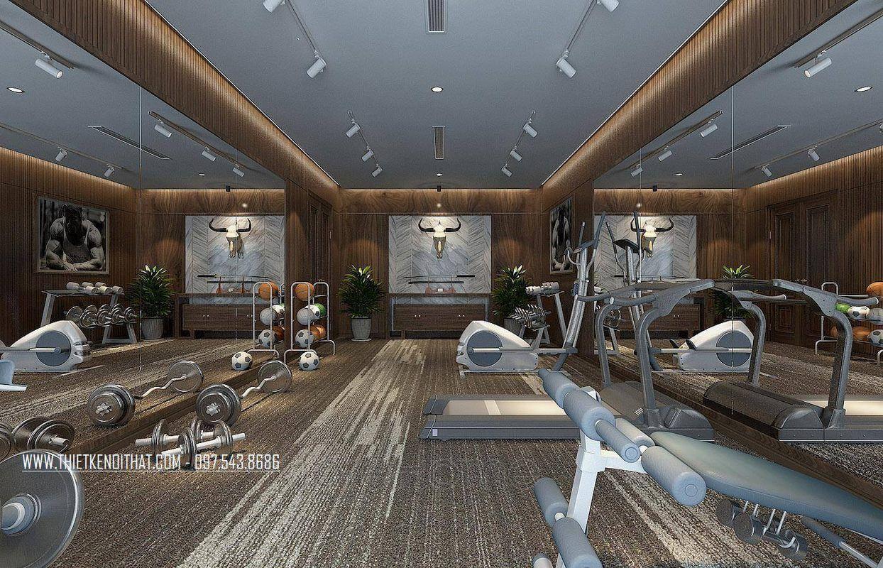 Thiết kế phòng tập gym nhà lô phố maison du park phạm văn đồng