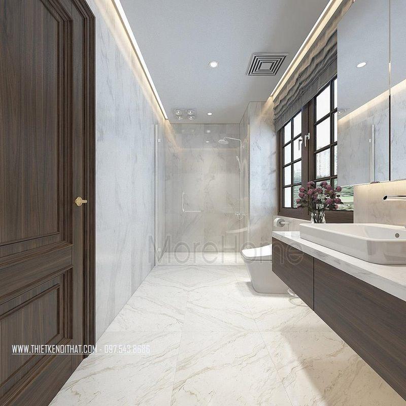 Thiết kế phòng tắm nhà vệ sinh nhà lô phố maison du park phạm văn đồng