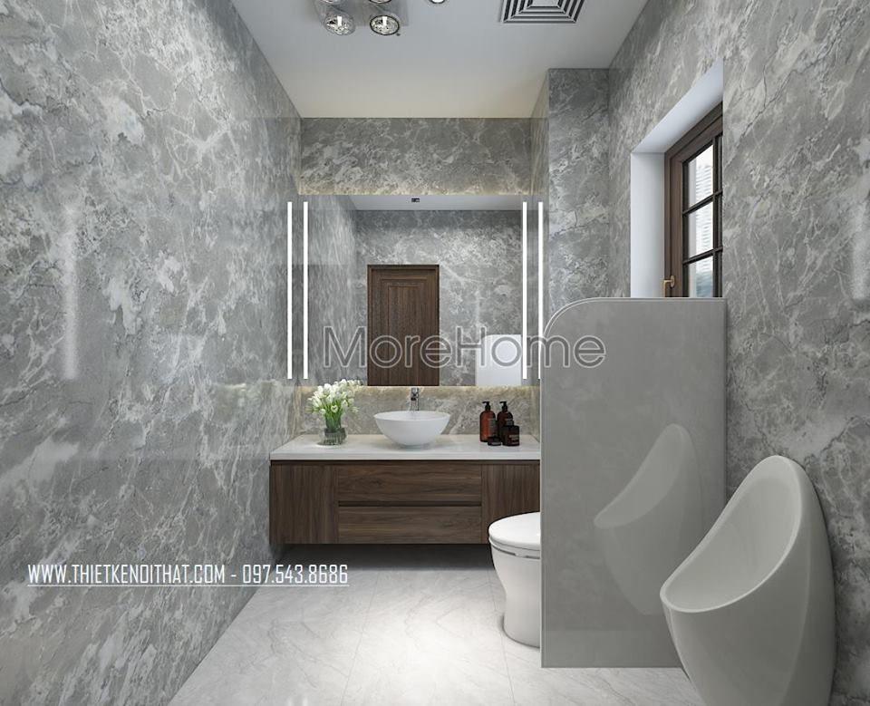 Thiết kế nội thất phòng tắm nhà vệ sinh nhà lô phố maison du park phạm văn đồng