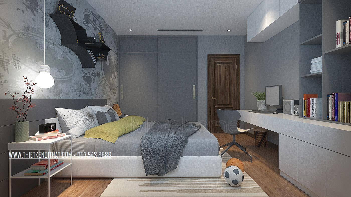 Thiết kế nội thất phòng ngủ  nhà lô phố maison du park phạm văn đồng