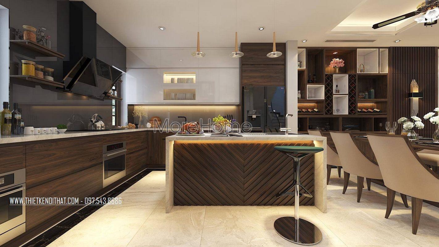 Thiết kế phòng bếp nhà lô phố maison du park phạm văn đồng