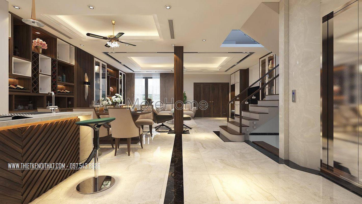 Thiết kế nội thất nhà lô phố maison du park phạm văn đồng