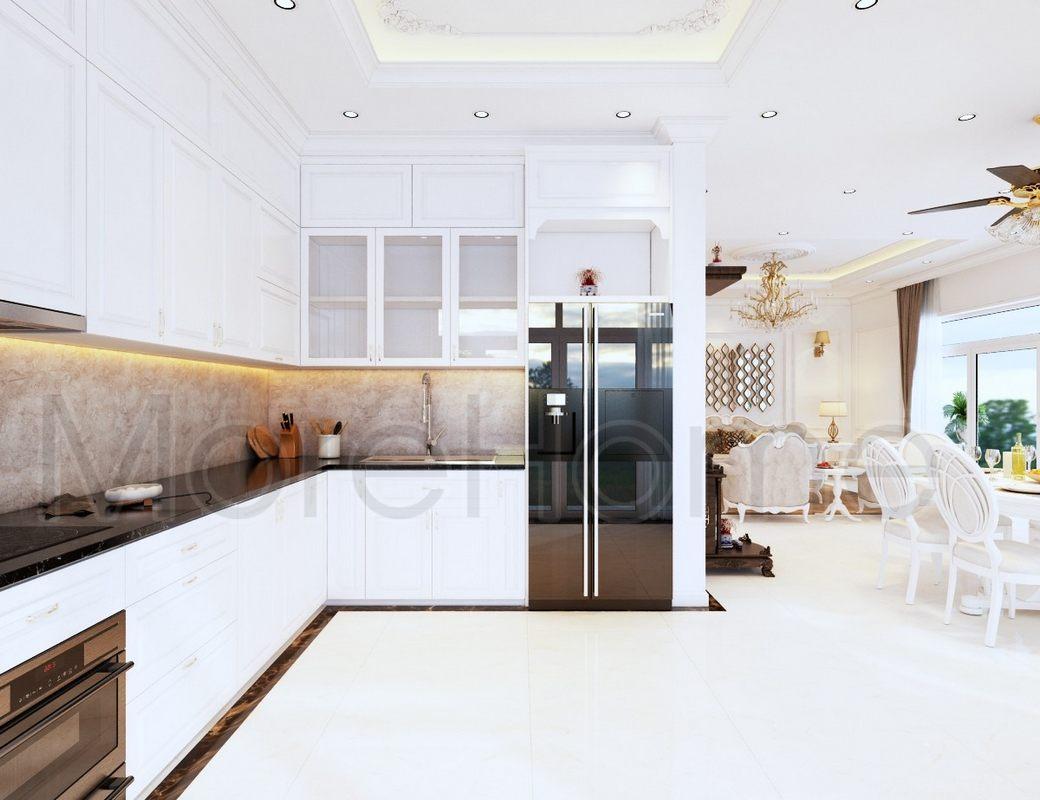 Thiết kế nội thất phòng khách nhà phố quận 9