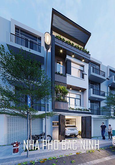 Thiết kế kiến trúc nhà phố 3 tầng hiện đại, sang trọng tại Bắc Ninh