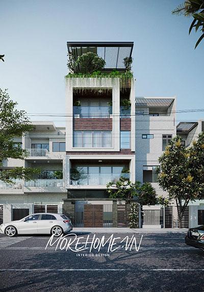 Thiết kế nhà phố hiện đại, sang trọng tại Hải Phòng