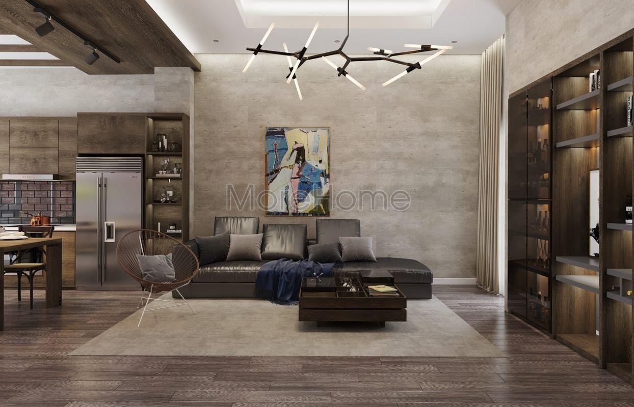 Thiết kế nội thất phòng khách nhà phố hiện đại