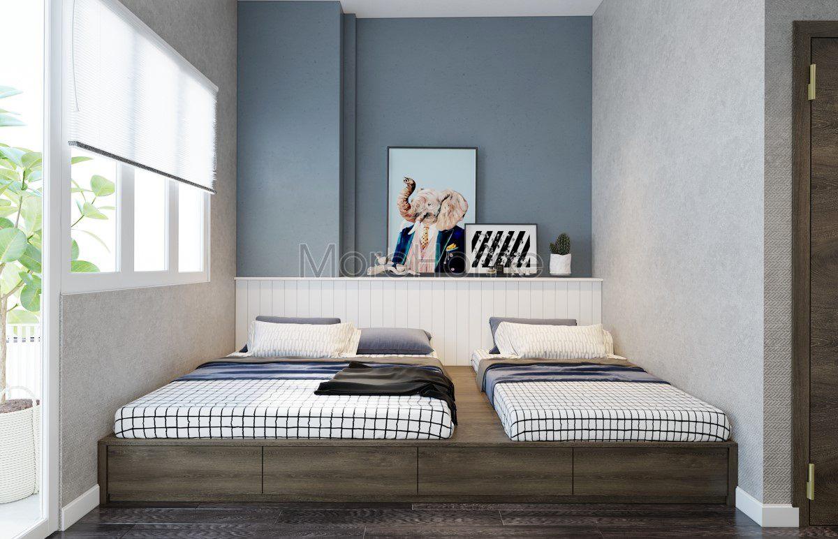 Thiết kế nội thất phòng ngủ nhà phố hiện đại