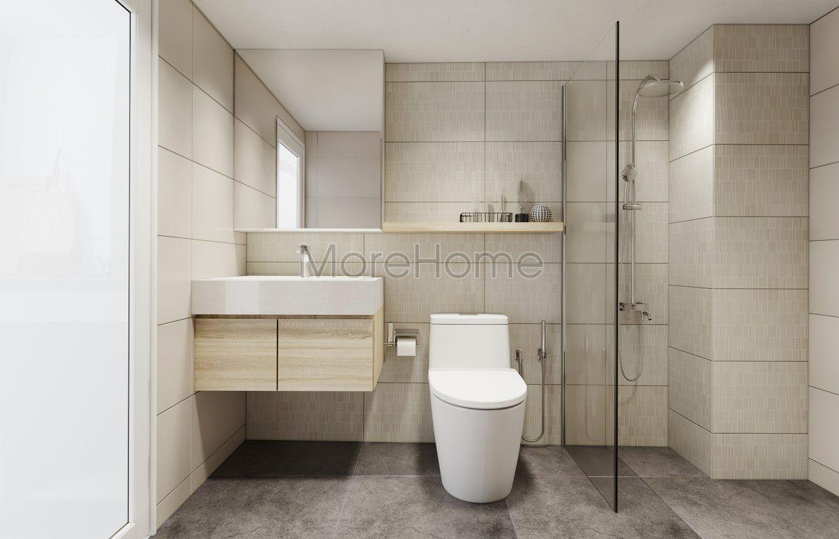 Thiết kế nội thất phòng tắm nhà phố hiện đại