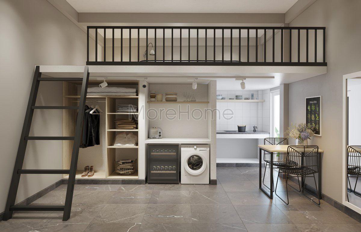 Thiết kế nội thất tầng gác xép cho nhà phố hiện đại
