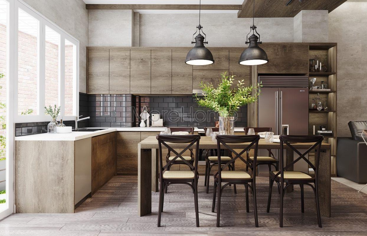 Thiết kế nội thất phòng bếp nhà phố hiện đại