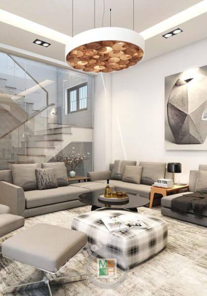 Thiết kế nội thất nhà lô liền kề phong cách hiện đại, cá tính - Anh Sơn