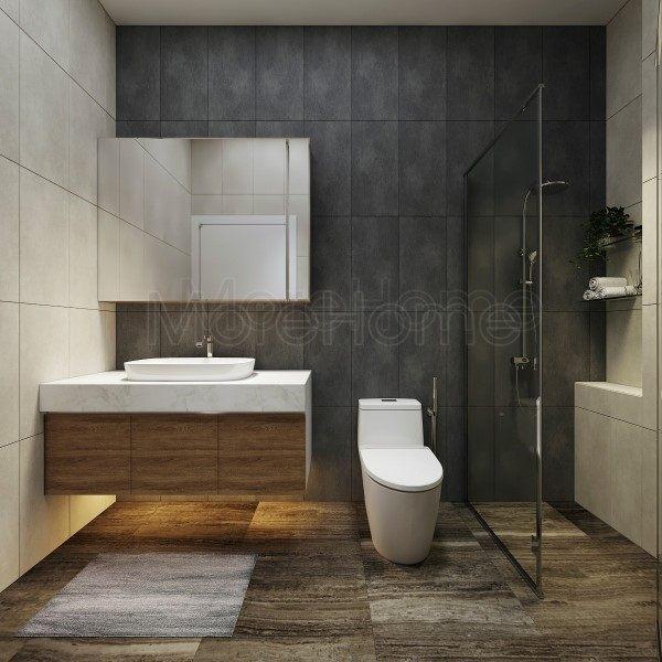 Thiết kế nội thấtphòng tắm nhà phố Quận 8 tphcm hiện đại