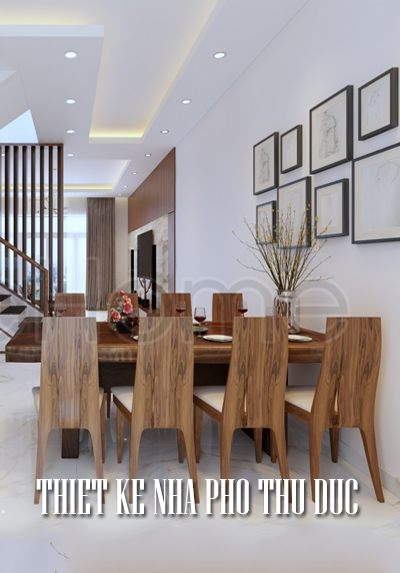 Thiết kế nội thất nhà phố Thủ Đức nội thất gỗ đẹp, sang trọng