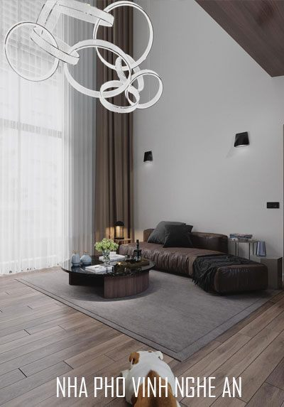 Thiết kế nội thất nhà phố phong cách hiện đại đẹp tại thành phố Vinh - Nghệ An