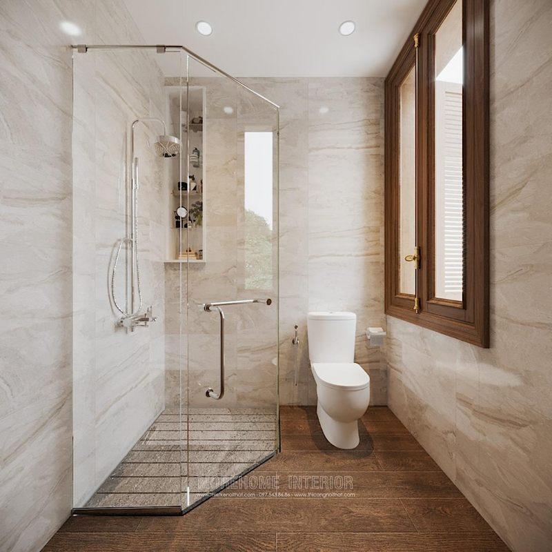 Thiết kế nội thất nhà tắm phòng vệ sinh biệt thự splendora bắc an khánh hoài đức hà nội