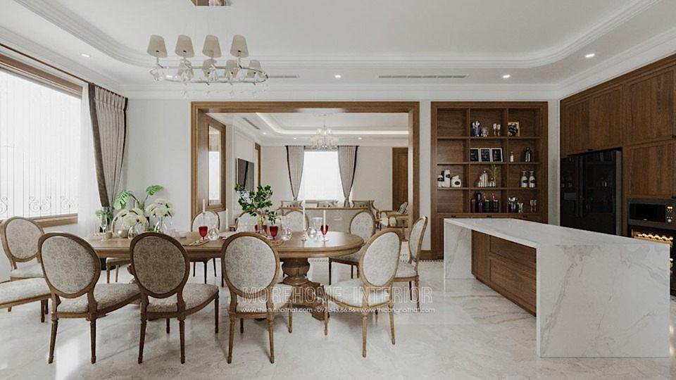 Thiết kế nội thất phòng ăn biệt thự splendora bắc an khánh hoài đức hà nội