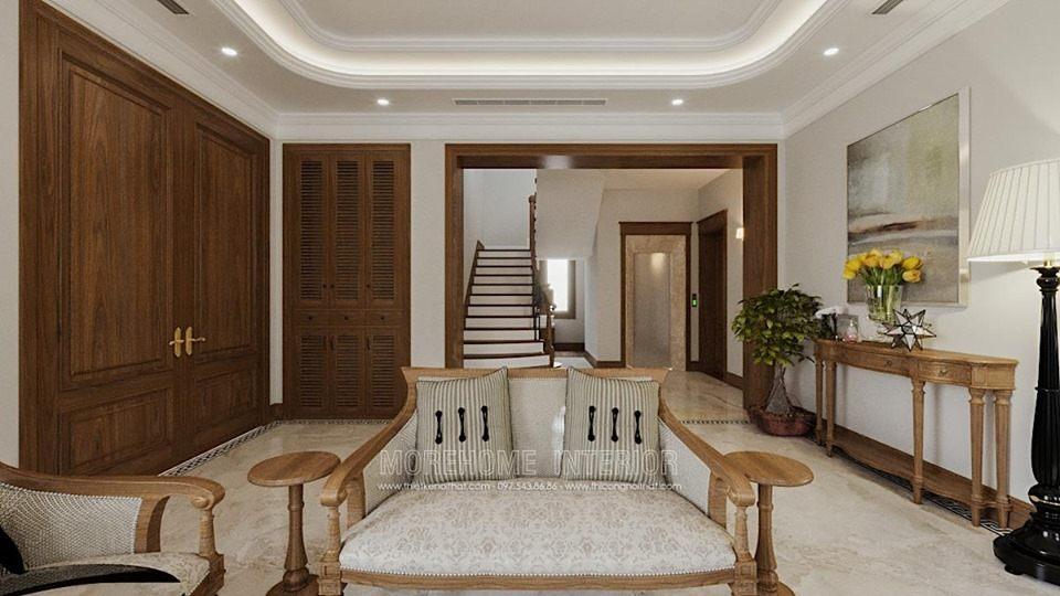 Thiết kế nội thất phòng khách biệt thự Splendora bắc An Khánh hoài đức hà nội