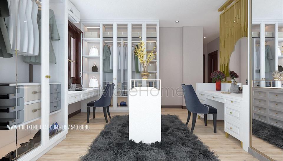 Thiết kế nội thất biệt thự tân cổ điển tại bắc ninh