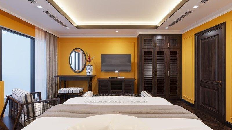Thiết kế nội thất phòng ngủ biệt thự Gamuda Hoàng Mai Hà Nội