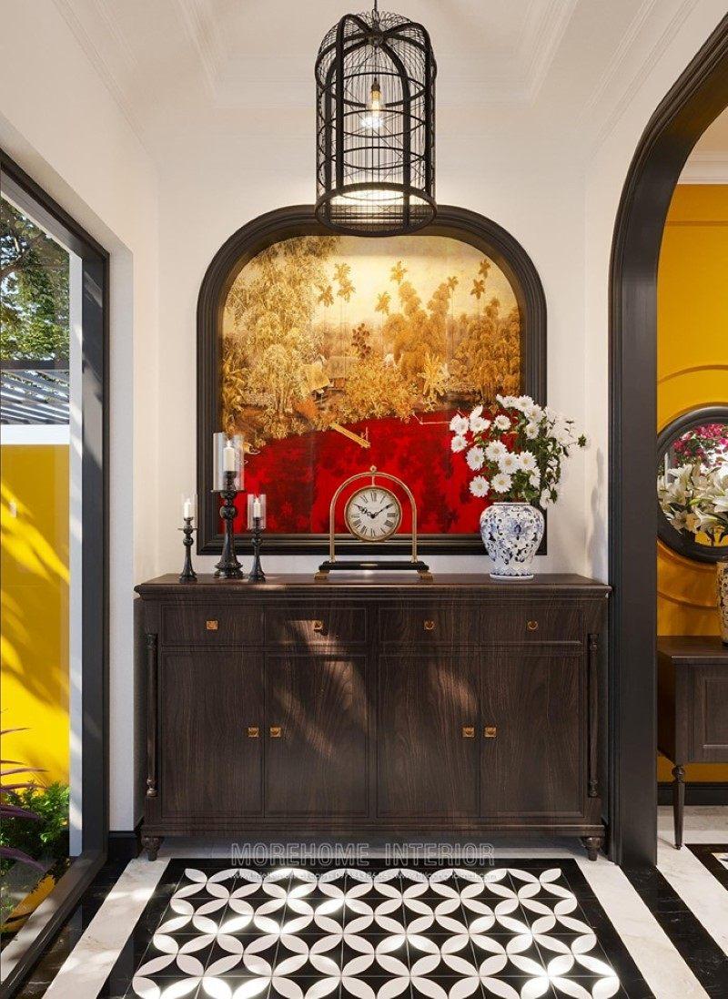 Kệ decor đẹp cho biệt thự Gamuda Hoàng Mai Hà Nội