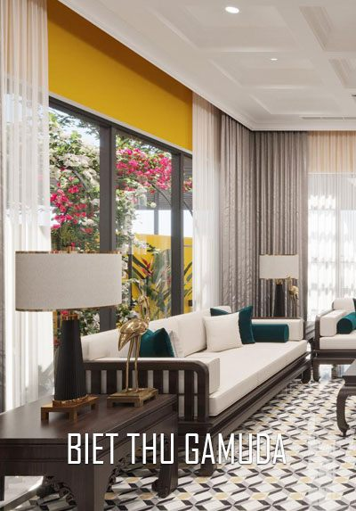 Thiết kế nội thất biệt thự Gamuda đậm phong cách Đông Dương