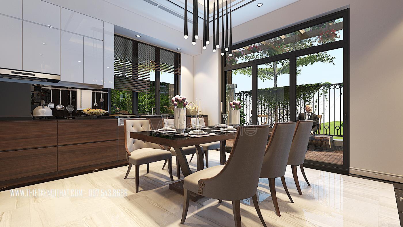 Thiết kế nội thất biệt thự Vinhomes Green Bay Mễ Trì