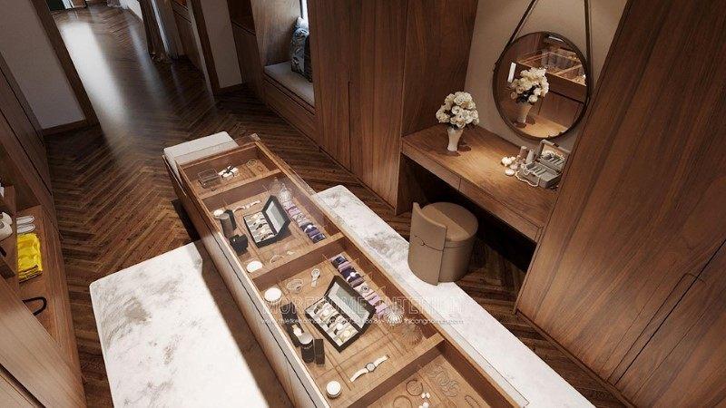 Tủ áo hiện đại biệt thự hải dương