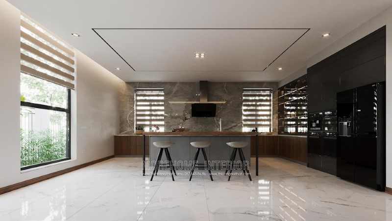 Thiết kế nội thất phòng ăn biệt thự hải dương
