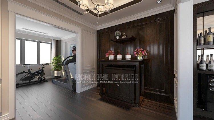 Thiết kế nội thất phòng thờ biệt thự Imperia Garden